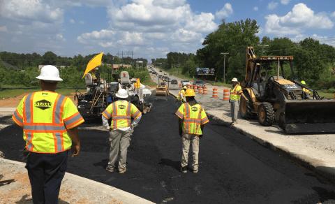 DOT Job Johnson and Lesley Construction